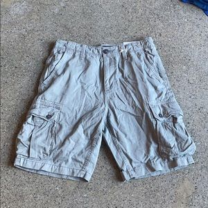 Grey American Eagle Cargo Shorts Size 31